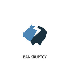 bankruptcy concept 2 colored icon simple blue vector image