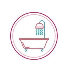 Bathtub icon design vector
