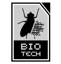Bio tech emblem vector