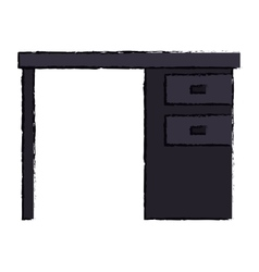 black desk office drawers icon vector image