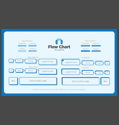 bold and blue flow chart template vector image