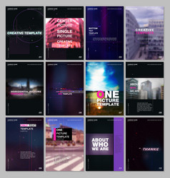 Brochure templates with technology backgrounds vector