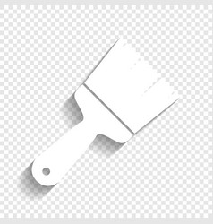 Brush sign white icon with vector