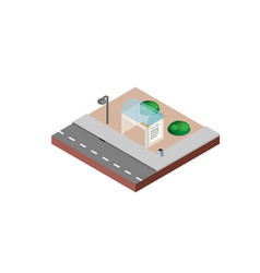 bus stop in isometric projection necessary vector image