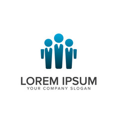 Bussiness man people logo design concept template vector