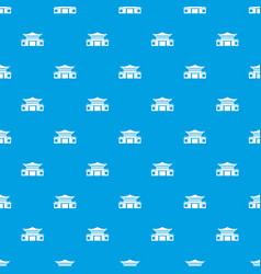 Chinese pattern seamless blue vector