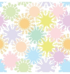 Christmas design seamless pattern snowflake set vector image vector image