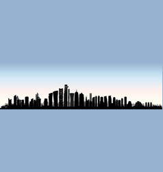 City doha skyline arabic urban cityscape qatar vector