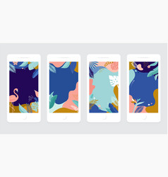 Collection abstract background designs - summer vector