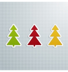 Colored Fir-Trees Set of Four vector image