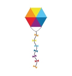 colorful kite icon vector image