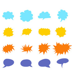 colorful speech bubble doodle vector image
