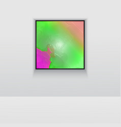digital art picture color on the wall in web vector image
