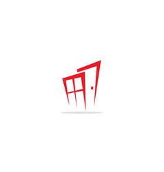 door window logo vector image