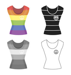 Dress icon cartoon single gay icon from the big vector