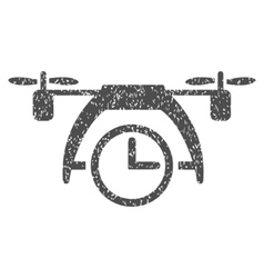Drone Clock Grainy Texture Icon vector