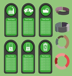 Ecological business green infographic with icons a vector