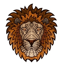 ethnic patterned ornate head lion vector image