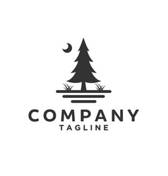 Evergreen for company logo designs vector