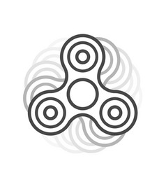 Fidget spinner line icon vector