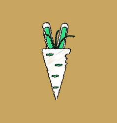 Flat shading style icon turnip plant vector