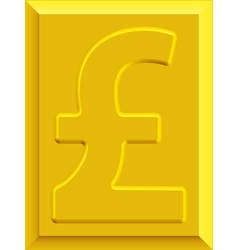 Gold pound sterling vector