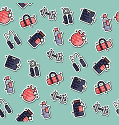 gym concept icons pattern vector image