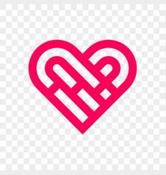 heart logo abstract creative icon vector image