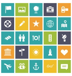 Icons plain tablet travel vector