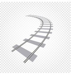 isolated abstract grey color railway road on vector image