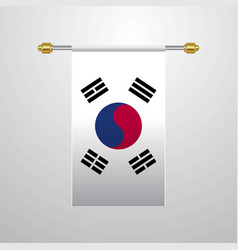 korea south hanging flag vector image