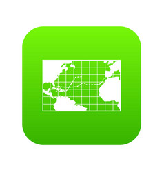 map trips of columbus icon digital green vector image