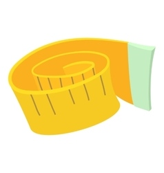Measuring tape icon cartoon style vector image