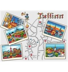 Medieval Old Town Tallinn Estonia vector image