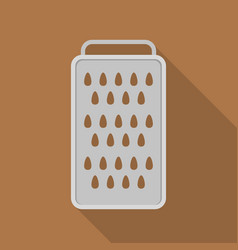 metal grater icon flat style vector image