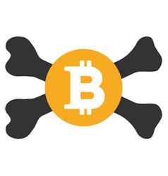 Mortal bitcoin flat icon vector