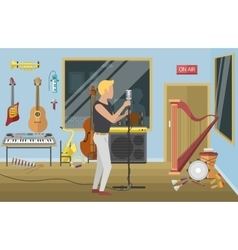 music studio vector image