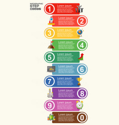 number steps 3d info graphic 1 to 10 vector image