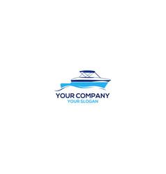 ocean shipyard logo design vector image