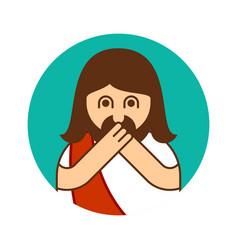 Oh my god jesus emotion omg christos emoji vector