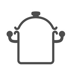 pan icon saucepan sign symbol vector image