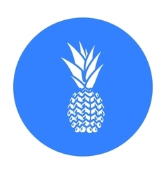 Pineapple icon black Singe fruit icon vector image