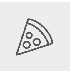 Pizza Slice Thin line icon vector image