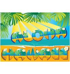 Postcard Aloha Hawaii vector