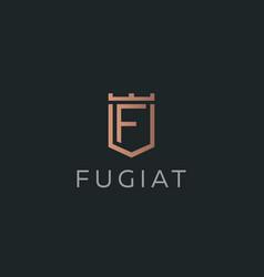 Premium monogram letter f initials logotype vector
