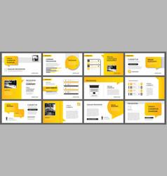 presentation and slide layout template design vector image