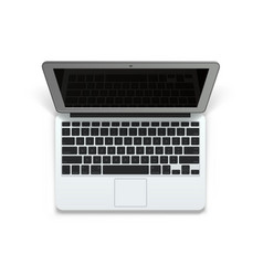 Realistic laptop 3d object art vector