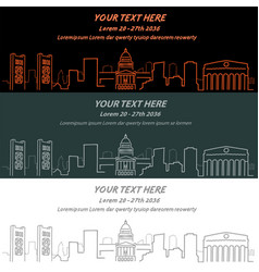 Sacramento event banner hand drawn skyline vector
