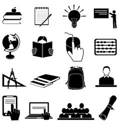 School education icons set vector