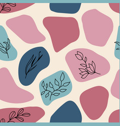 seamless trendy pattern with hand drawn vector image
